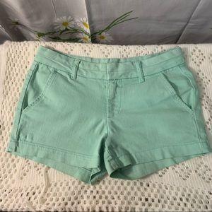 Francescas pastel mint / teal mid rise shorts